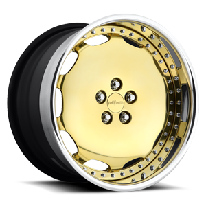 SCR Gold w/Polished Lip 5 lug