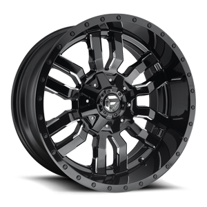 Sledge - D595 Gloss Black & Milled 5 lug