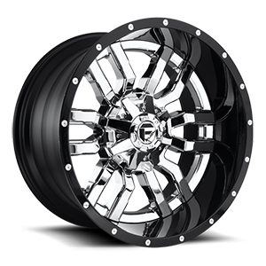 Fuel 2-Piece Wheels Sledge - D270 5 Chrome with Gloss Black Lip
