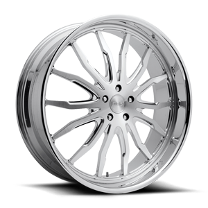 Spikey - X126 Brushed w/ Polished Lip 5 lug