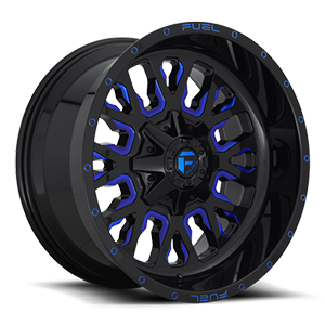 Stroke - D645 8 Gloss Black w/ Candy Blue