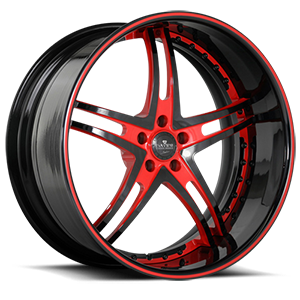 SV23-S Black and Red 5 lug