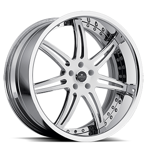 SV48-S White and Chrome 5 lug