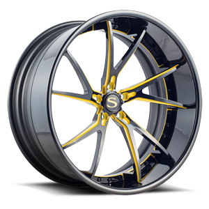 Savini Forged SV68-XC 5 Gloss Black w/ Yellow Accent
