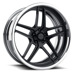GTB eXL s.concave Matte Black w/ Polished Lip 5 lug
