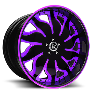 Solare Black and Purple 5 lug