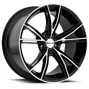 SC100 Gloss Black Machined 5 lug
