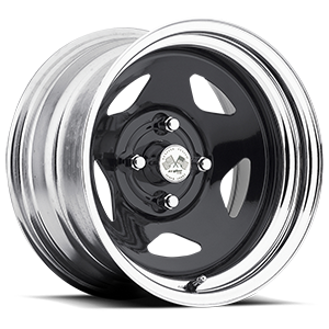 Star (Series 021) Black/Chrome Rim 4 lug