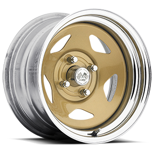 Star (Series 021) Gold/Chrome Rim 4 lug