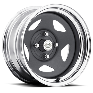 Star (Series 021) Gunmetal/Chrome Rim 4 lug