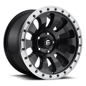 Tactic - D629 Black w/ Machined Lip 5 lug