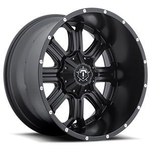 535 Satin Black with Milled Accents - 22x12 8 lug