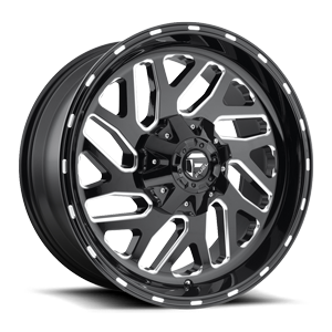 Triton - D581 Black & Milled 8 lug