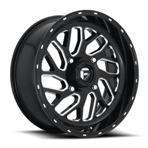 Triton - D581 - UTV 18x7 | 4 Lug | Gloss Black & Milled