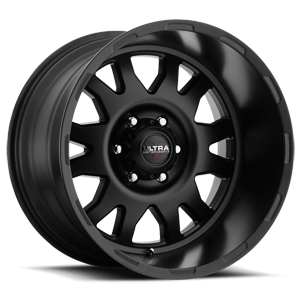 108 Xtreme Satin Black and Clear Coat - 20x12 6 lug
