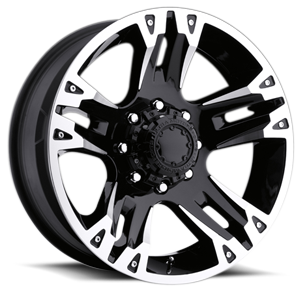 234-235 Maverick Gloss Black with Diamond Cut Accents 8 lug
