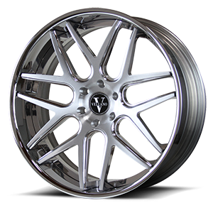 VCA Concave Brushed and Polished with Chrome Lip 5 lug