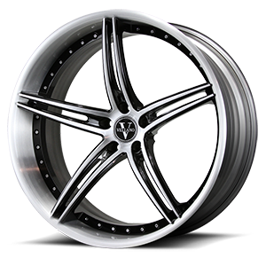 VCL Concave Brushed Black 5 lug