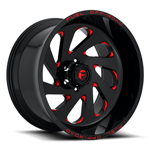 Vortex - D638 6 Gloss Black w/ Candy Red