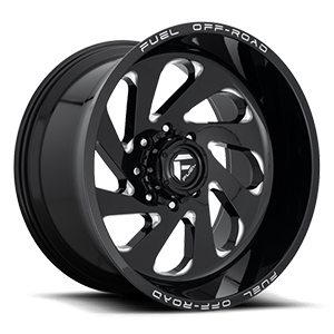 Vortex - D637 8 Gloss Black & Milled