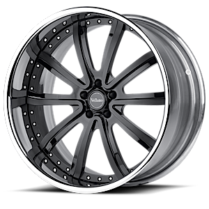 VRS Black with Chrome Lip 6 lug