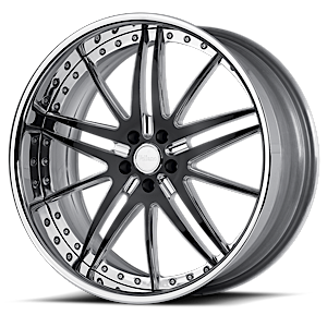 VSC Polished Black 6 lug
