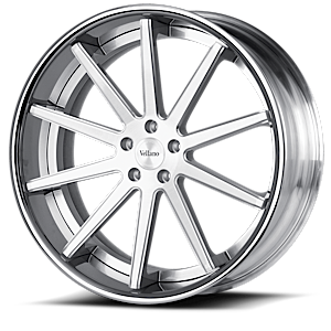 VKO concave Brushed w/ Chrome Lip 5 lug