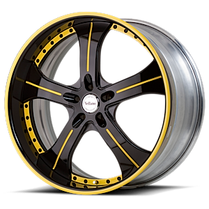 VST Black and Yellow 6 lug