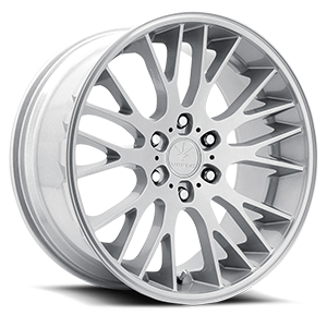 Verde Wheels V22 Duo 6 Satin Silver Machined
