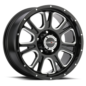 399 Fury 5 Gloss Black with Milled Spoke