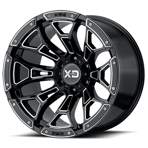 XD841 Boneyard Gloss Black Milled 6 lug
