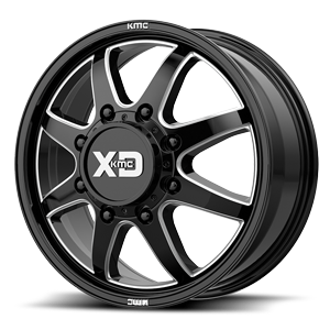 XD845 Pike Dually Gloss Black Milled 8 lug