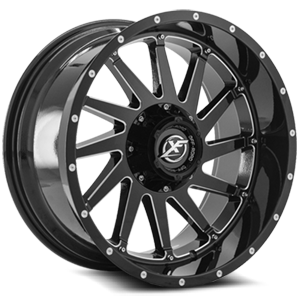 XF Off-Road XF-216 5 Gloss Black Milled - 20x10