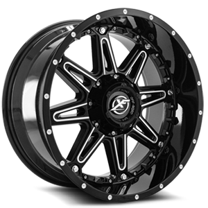 XF Off-Road XF-217 5 Gloss Black Milled - 20x10