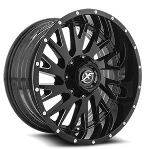 XF Off-Road XF-221 5 Gloss Black Milled - 20x10