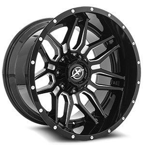 XF Off-Road XF-222 5 Gloss Black Machined - 20x12
