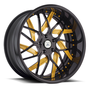 Asanti Wheels - AF832 Black and Yellow 5 lug