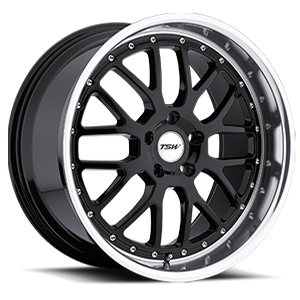 Valencia Gloss Black with Mirror Cut Lip 5 lug