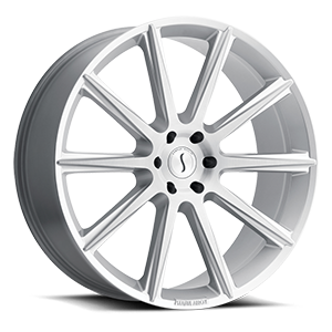 Status Wheels Zeus 6 Silver with Brushed Face