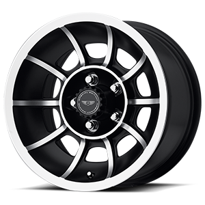 VN47 Vector Satin Black Machined 5 lug