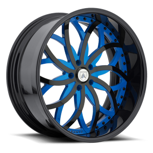 AF821 Blue and Black 5 lug
