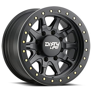 Dirty Life 9304 DT-2 8 Matte Black w/ Optional Rash Ring