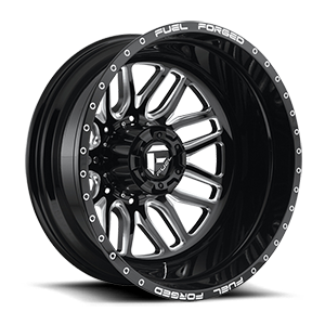 FF66D - Rear Black & Milled 8 lug