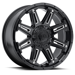 741 Mechanic Gloss Black with CNC Milled Accents 8 lug