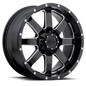 Gear Alloy 726 Big Block 6 Gloss Black with CNC Milled Accents
