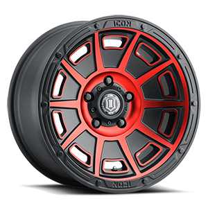 Victory Satin Black with Red Tint 5 lug