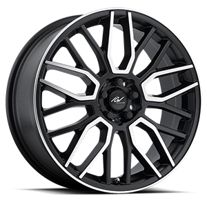 218 Drone Mirror Machined Face with Satin Black Accents 5 lug
