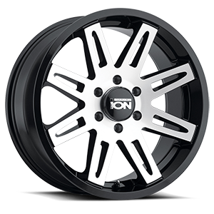 Ion Alloy Wheels 142 6 Satin Black Machined Face