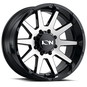 Ion Alloy Wheels 143 8 Gloss Black Machined Face