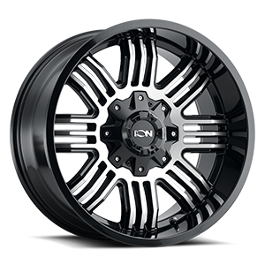 Ion Alloy Wheels 144 5 Gloss Black & Machined